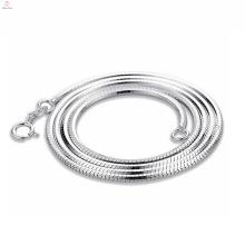 Collar de cadena de la plata esterlina de las mujeres al por mayor, collar de cadena de la plata esterlina de la joyería de los hombres 925