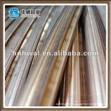 Grooved contact wire