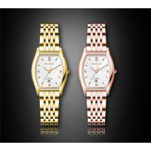 Quadratische Edelstahl-Diamant-Damen-Armbanduhr