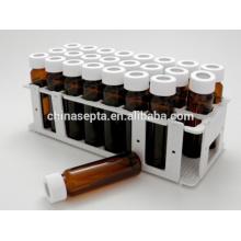 Manufacturing 24-400 40ML Amber Storage Vial mit PP Cap, montierten Reagenzglasständer