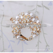 3D Pearl rhinestone broche al por mayor