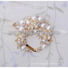 3D Pearl rhinestone brooch wholesale
