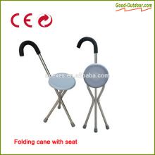 CE Certificate Aluminum Folding Stool Walking Stick