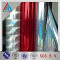 Filme Hologrpahic / Filme a laser e filmes de laminação térmica holográfica metálica opaca para impressão e embalagem de presente