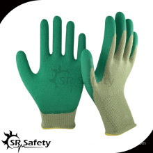 Srsafety 13G bamboo latex coated safety working gloves winter gloves latex foam gloves
