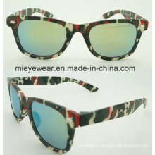 New Fashion Plastic Camouflage Temple Kids Sunglasses (5003)