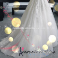 A line fashion style appliqued strapless prom wedding dresses