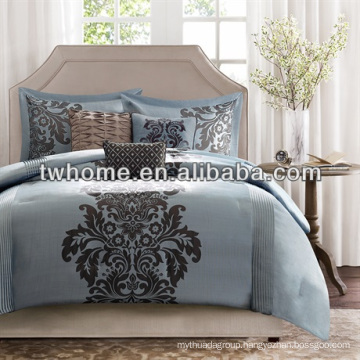 Madison Park Novak Comforter Duvet Cover Blue Jacquard Bedding Set