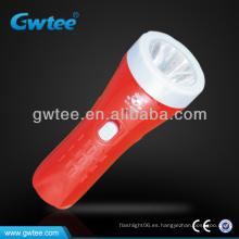 1 LED de plástico luz eléctrica antorcha de mano