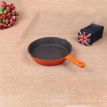 Home küche mittelgroße gusseisen runde ensmel grillpfanne