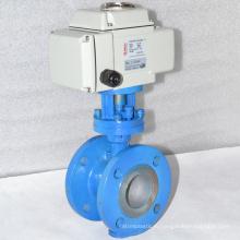 высокое качество металла запечатывания ss304 в трех эксцентриковые затворы с электропривод