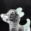 Décoration de cristal claire facettée largement utilisée de qualité supérieure de chien pour le jour d'anniversaire