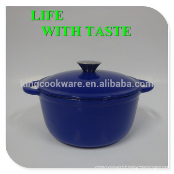 Marmite en fonte, cuisinière émaillée en fonte, batterie de cuisine en fonte émaillée