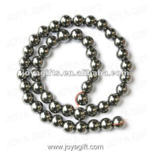 10MM Loose Magnetic Hematite Round Beads 16""