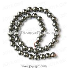 """10MM Loose Hematite Round Beads 16 """""""