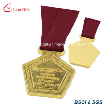 Pentagon Shape Award Golden Medal