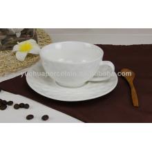 Крупногабаритные фарфоровые чайные чашки и блюдца