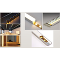 led linear light with circular corner led ceiling hanging linear light