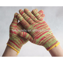 7 gauge colorful cotton knitted working gloves 400--800 grams
