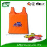 190Tnylon foldable shopping bag with plastic hook, bag in bag