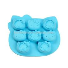 100% Food-grade Natal Hello Kitty molde de sabão anti-stick