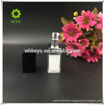 30ml plastic custom plastic square acrylic lotion makeup bottle