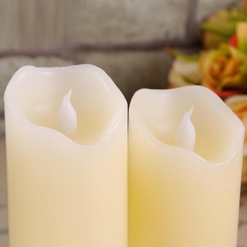 Real Wax Flameless Smooth LED Pillar Candle