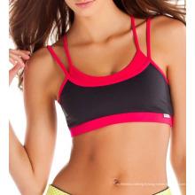 Soutien-gorge fait sur commande de sports de sublimation, soutien-gorge courant, soutien-gorge de yoga de gymnastique