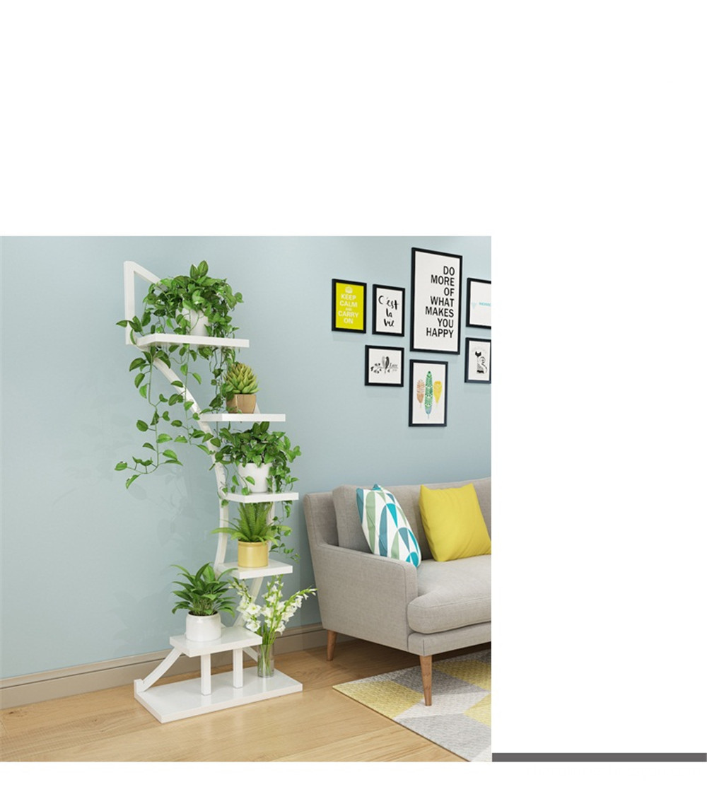 dinning room wooden flowerpot shelf