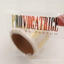 venta caliente rectangular caliente de la etiqueta engomada de la hoja de oro caliente