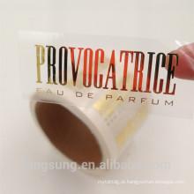 costume priviate hot gold stamp etiqueta da etiqueta adesiva