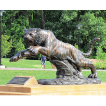 Tier Metall Bronze Garten hochwertige lebensgroße Tiger Statue