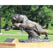 animal métal bronze jardin haute qualité vie taille tiger statue