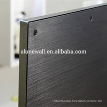 Alunewall 3mm Brushed Aluminum Plastic Composite Panel For TV Back board
