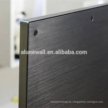 Painel composto plástico de alumínio escovado 3mm de Alunewall para a placa traseira da tevê