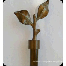 Leaves Finial Curtain Rod Set