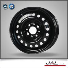 13x5J rodas de carro preto 4 furo de aço borda rodas automáticas