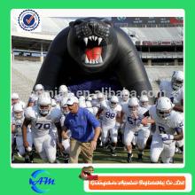Túnel inflable inflable del casco de fútbol inflable del túnel inflable del oso para la venta