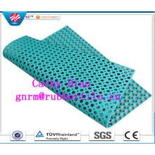 Tapis de caoutchouc anti-fatigue de haute qualité / tapis de caoutchouc anti-dérapant de cuisine / tapis de caoutchouc de drainage de plate-forme de bateau