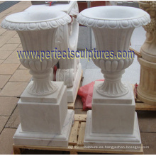 Jarrón de mármol para piedra de jardín (QFP341)