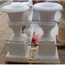Vase en marbre pour jardin en pierre (QFP341)