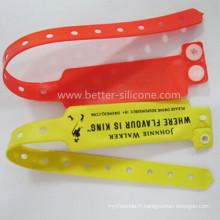 OEM Nouveau Design PVC Bracelet Réfléchissant