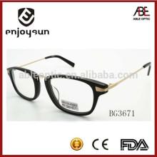 Quadro de óculos ópticos de acetato unisex de estilo clássico com CE & FDA