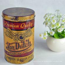 Kundenspezifische Druck-Weißblech-runder Paket-Behälter für Tee-Verpackungs-Dose Metallkasten-Tee-Zinn