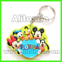 High quality promotional pvc 2d 3d cartoon figure animal key chains custom manufacturer