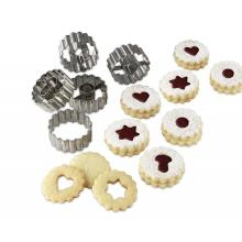 Christmas Linzer Cookie Cutter stainless steel cookie press