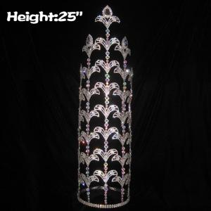25in Height Large Custom Fleur De Lis Pageant Crowns