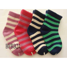 Bambus Baby Kind Kinder Unisex Nette Streifen Crew Socken (BFBB21)