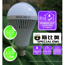 12W Rechargeable Emergency LED Bulb with Backup Battery E27 B22