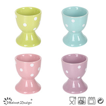 5cm Ceramic Egg Cup Full Glaze with Classical and Lovely Dots Design